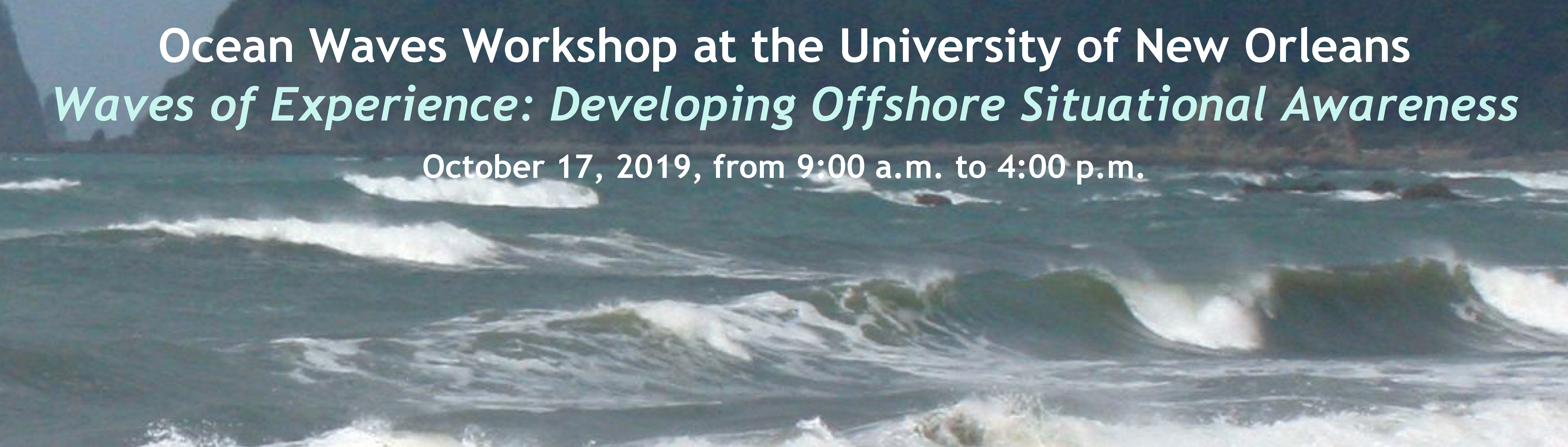 Ocean Waves Workshop 2019